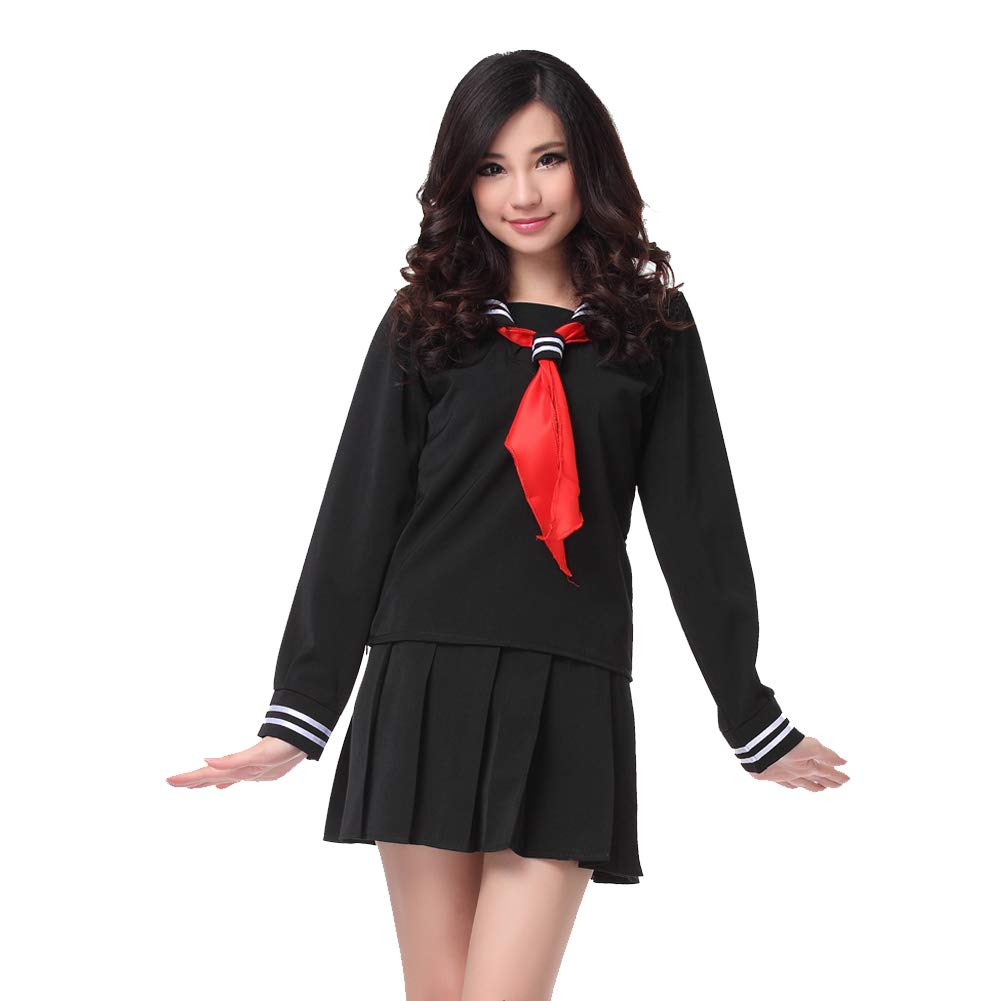 Nuoqi Japanese School Uniform Girls Anime Yandere Simulator Cosplay Sailor Costume