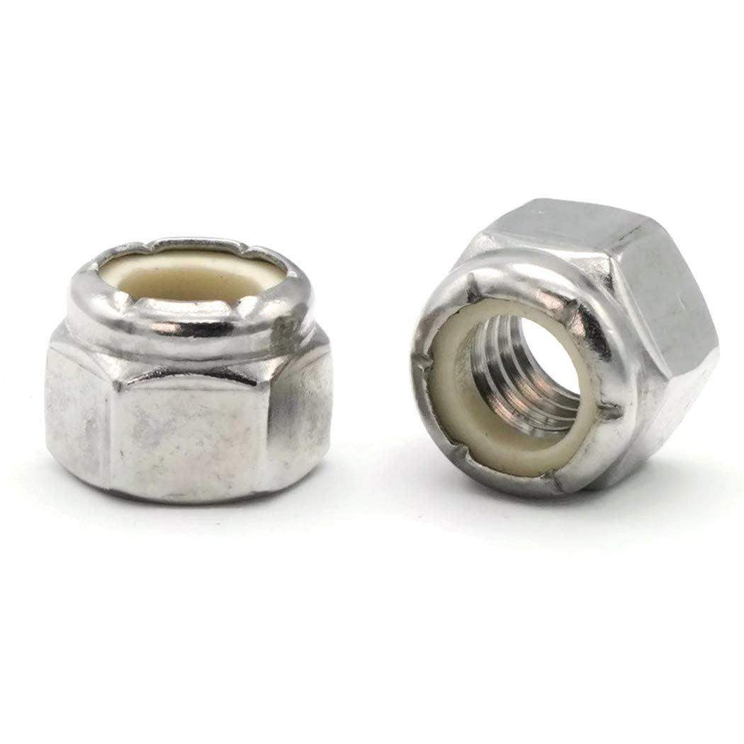 Waxed Nylon Insert Lock Nut Nylock 18-8 Stainless Steel Hex Nuts #6-32 QTY 100