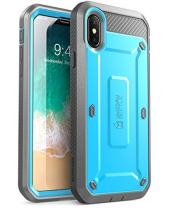 SUPCASE Unicorn Beetle Pro Series Case Designed for iPhone X, with Built-In Screen Protector Full-body Rugged Holster Case for Apple iPhone X / iPhone 10 (2017 Release) (Blue)