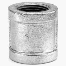 "Anvil 8700133559, Malleable Iron Pipe Fitting, Coupling, 1/2"" NPT Female, Galvanized Finish"