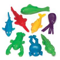 Baker Ross Stretchy Flying Sea Creatures Value Pack — Novelty Toys for Kids, Perfect Party, Loot or Prize Bag Filler, Assorted Colors (Pack of 8)