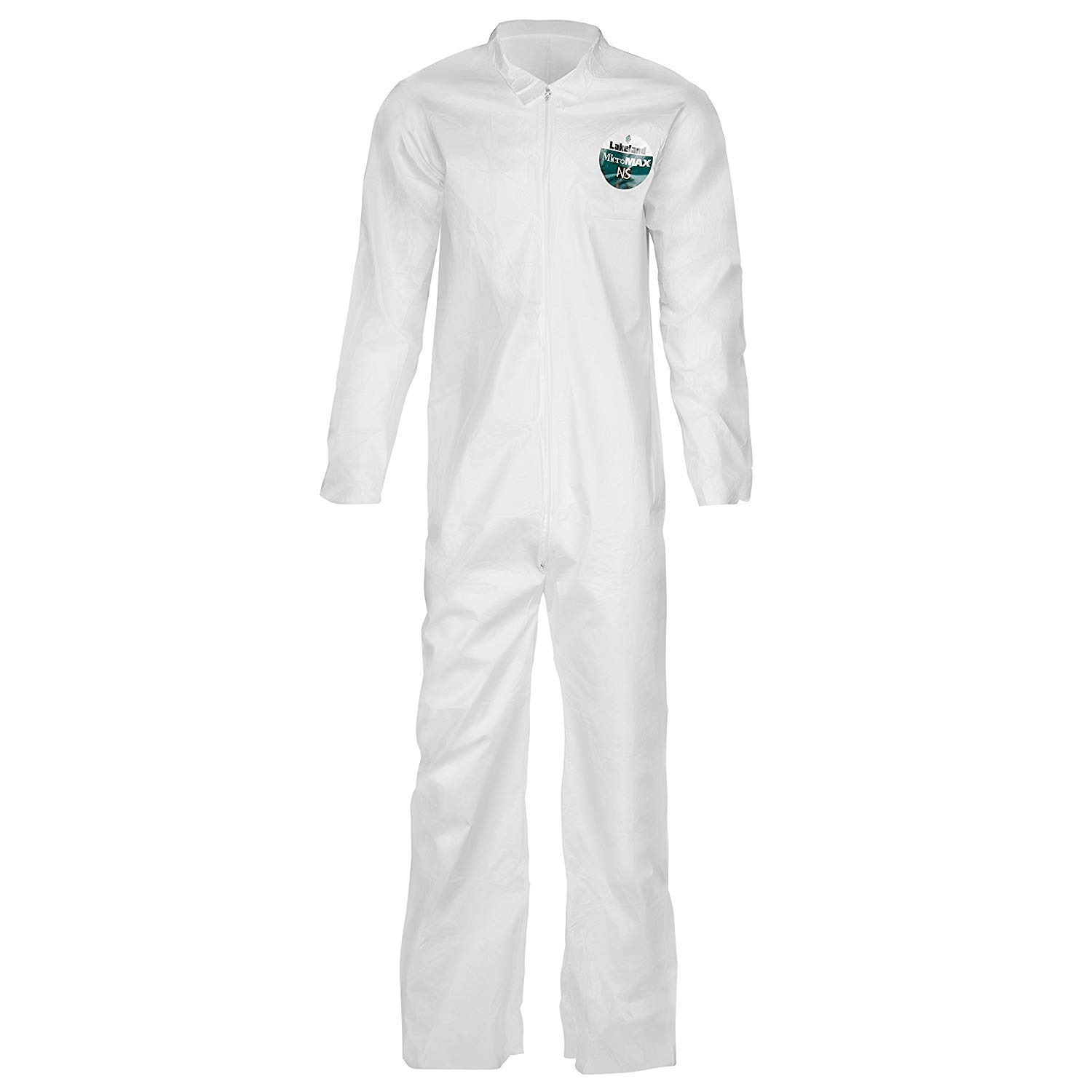 Lakeland Industries CTL412V-LG MicroMaxNS Coverall, Large, White (Pack of 1)