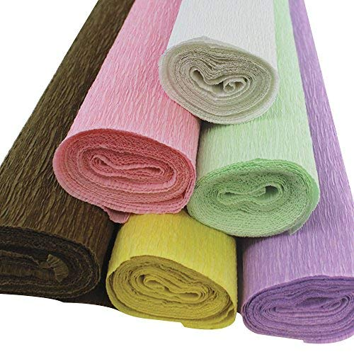Just Artifacts 70g Premium Crepe Paper Rolls - 8ft Length/20in Width (6pcs, Color: Donut)