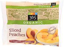 365 Everyday Value, Organic Sliced Peaches, 10 oz, (Frozen)