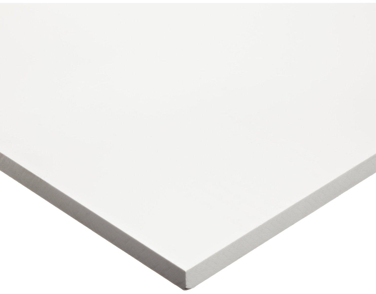"Acrylic Sheet, Transparent Clear, Standard Tolerance, ASTM D788, 0.118"" Thickness, 24"" Width, 24"" Length"