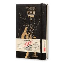 """Moleskine Limited Edition Alice in Wonderland Notebook, Hard Cover, Large (5"""" x 8.25"""") Plain/Blank, Black, 240 Pages"""