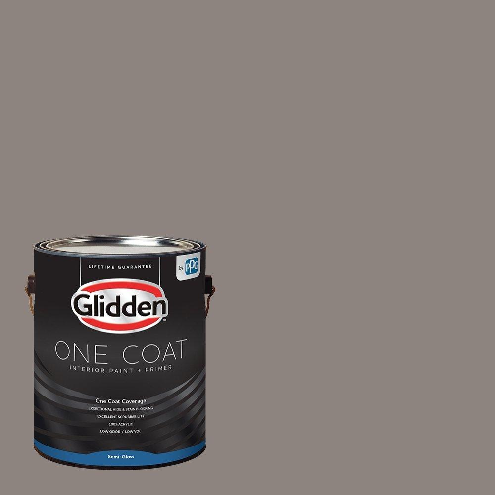 Glidden Interior Paint + Primer: Gray/Elephant Gray, One Coat, Semi-Gloss, 1-Gallon