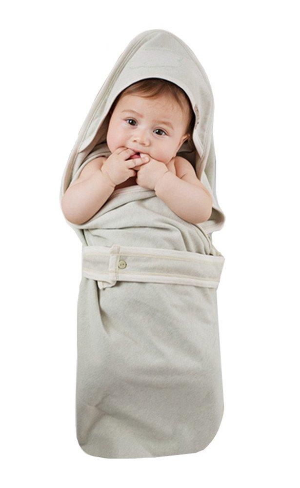OuYun Infant Newborn Baby Swaddle Organic Sleeping Bag Double-Deck Sleep Nest