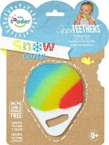 Little Toader Teething Toys - Soft Silicone Desserts Sweets and Candy Shaped BPA Free Teethers (Summer Snow Cone)