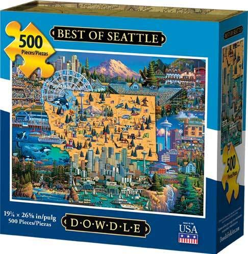Dowdle Jigsaw Puzzle - Best of Seattle - 500 Piece