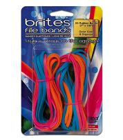 """Alliance Rubber 07755 Non-Latex Brites File Bands, Colored Elastic Bands, 24 Pack (7"""" x 1/8"""", Assorted Colors)"""