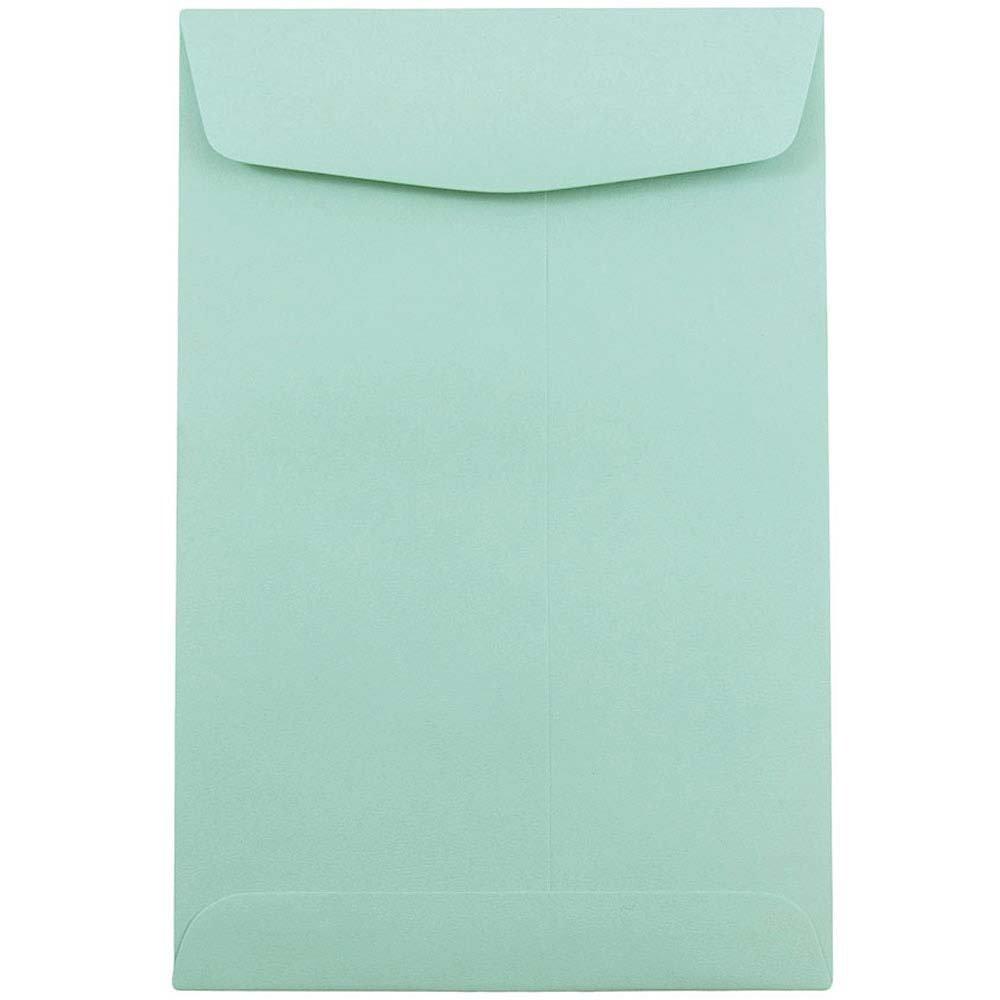 JAM PAPER 6 x 9 Open End Catalog Premium Envelopes - Aqua Blue - 50/Pack