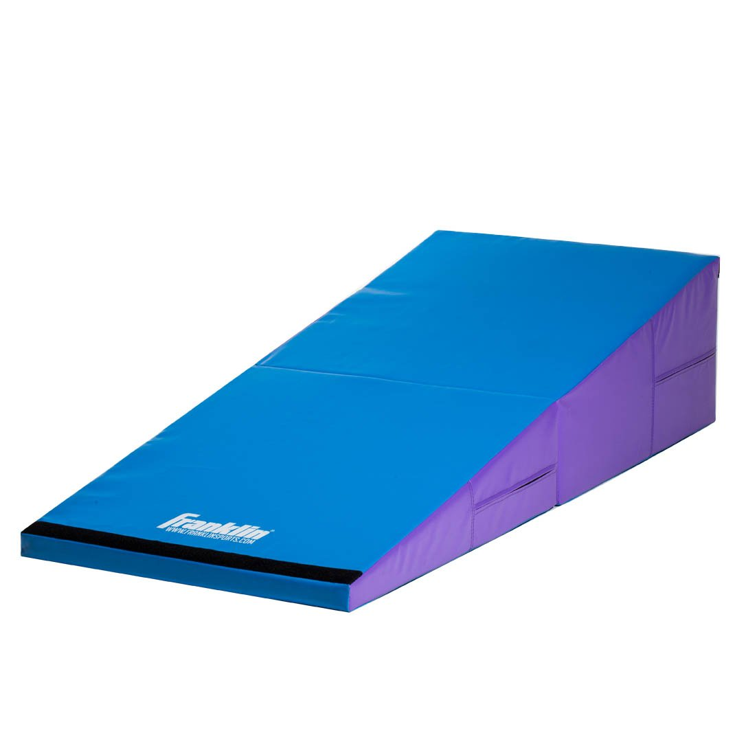 Franklin Sports Folding Gymnastics Cheese Mat, Institutional Grade - Gym Equipment - Gymnastics Mats - Bar - Beam - Tumbling - Exercise - For Gym and Home - Incline - Wedge