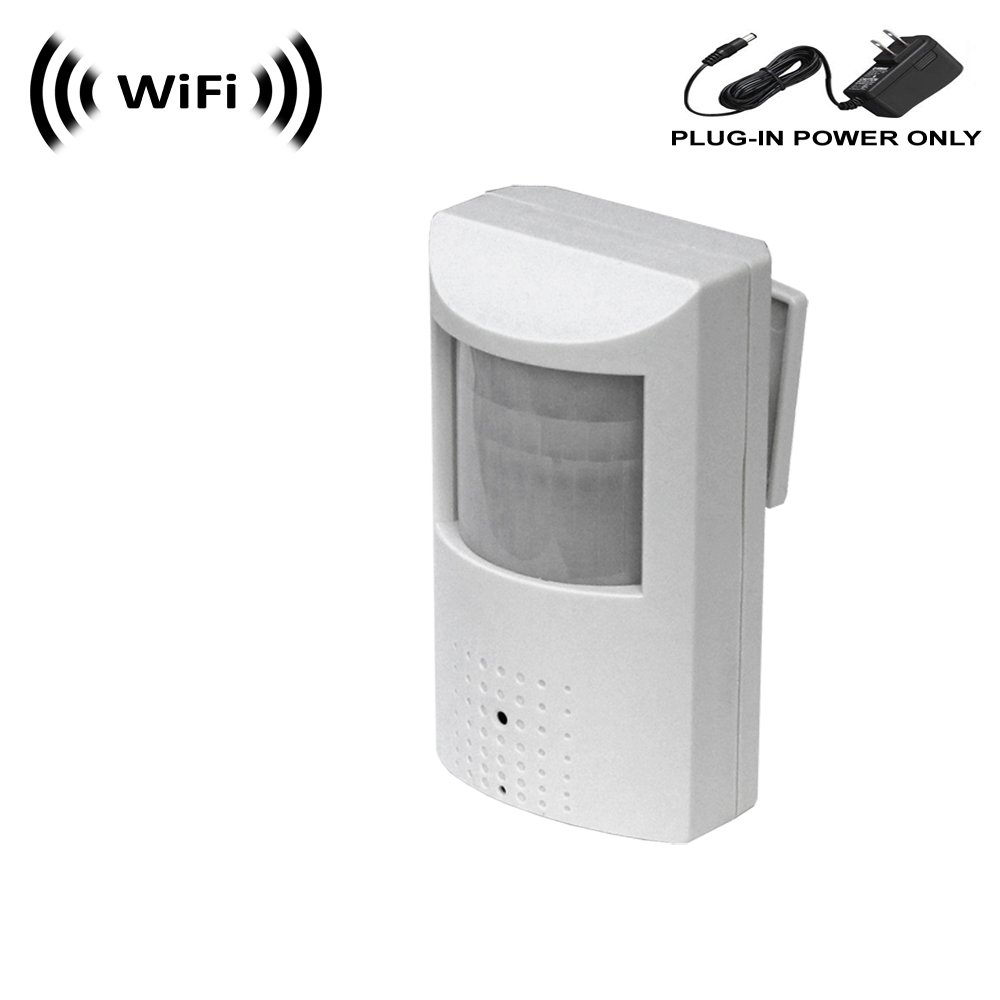 WF-450 1080p IMX323 Sony Chip Super Low Light Wireless Spy Camera with WiFi Digital IP Signal, Recording & Remote Internet Access. (Camera Hidden in PIR Motion Detector) (Standard)