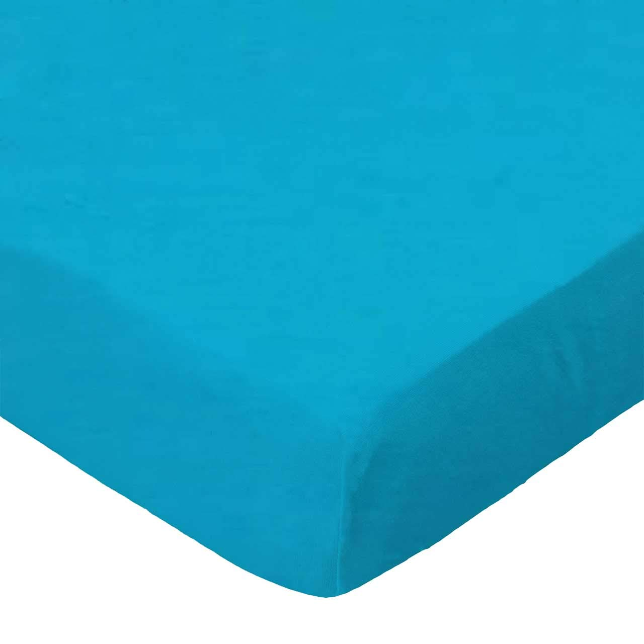 SheetWorld Fitted Bassinet Sheet - Turquoise Woven - Made In USA