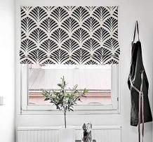 "KARUILU Roman Window Shades Window Blinds, Flat Fold, Washable, Custom Order Any Width from 14"" to 55"", (30W x 63H, Ginkgo)"