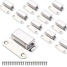 Mousike Cabinet Magnets Magnetic Door Catch Stainless Steel Door Magnet for Kitchen Bathroom Cupboard Wardrobe Closet Closures Cabinet Door Drawer Latch 20 lbs(10Pack)