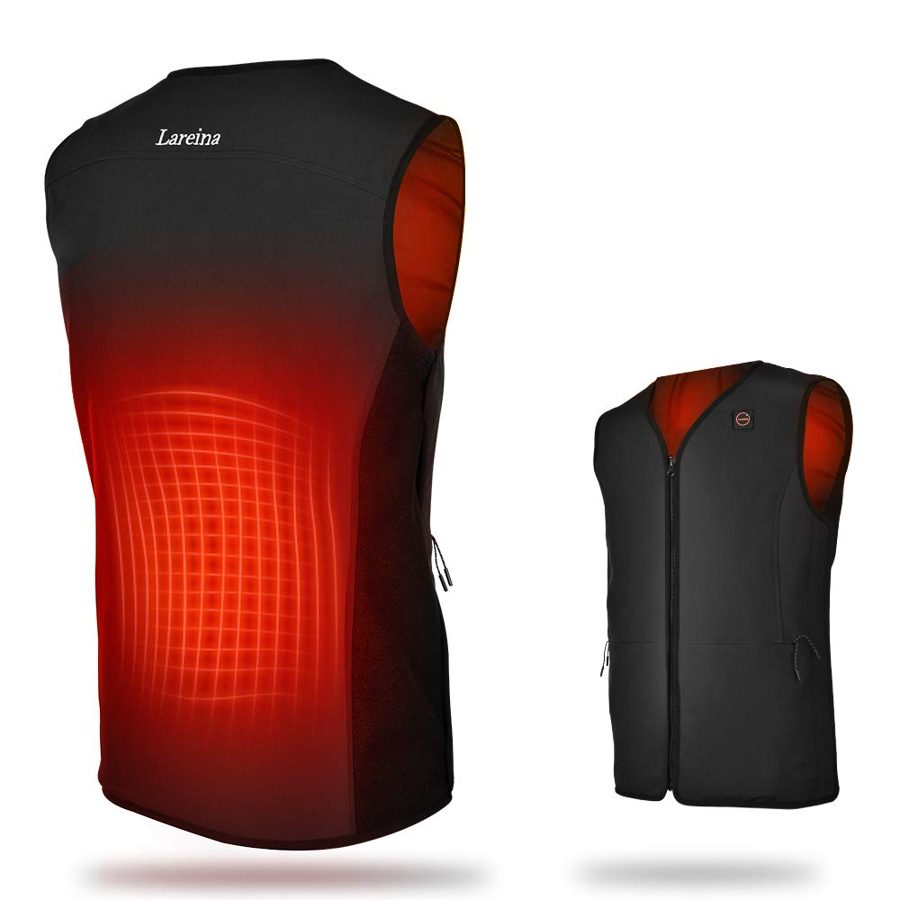 Heated Vest Lightweight Heating Vest Battery Pack 5S Heat-Up & 3 Heating Levels