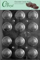 Cybrtrayd S051 Golf Balls 3D Chocolate Candy Mold with Exclusive Cybrtrayd Copyrighted Chocolate Molding Instructions