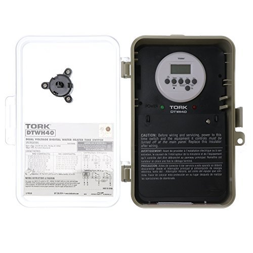 Digital Controls, DT Series Automatic Voltage Detection 24 Hour/7 Day Hour Time Switch, 120/240 VAC Timer Supply, 1 Channel, DPDT Dry Contact