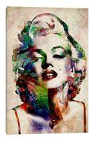 "iCanvasART Watercolor Marilyn Monroe Canvas Print, 60"" x 40"", Multi"