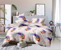 ENCOFT Flying Feathers Queen Comforter Bedding Sets Winter Warm Twin/Full/Queen Bed Comforter Sets for Women Ladies Girls 3 Pieces Quilt Bedspread Bedding Sets with Pillow Shams,Flying Feathers