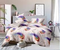 ENCOFT Flying Feathers Queen Comforter Bedding Sets Winter Warm Twin/Full/Queen Bed Comforter Sets for Women Ladies Girls 3 Pieces Quilt Bedspread Bedding Sets with Pillow Shams,Flying Feathers