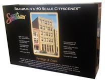 Bachmann Industries HO Scale Savings & Loan City Scenes Building Kit