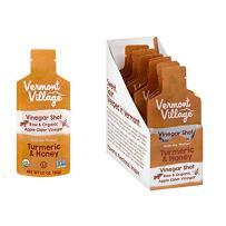 Vermont Village Organic Apple Cider Vinegar Shot - Turmeric & Honey (Pack of 12)