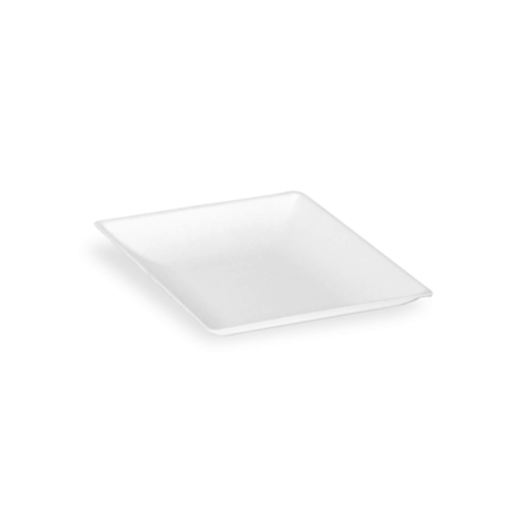 "Bio 'n' Chic White Mini Sugarcane Plate (Case of 100), PacknWood - White Paper Miniature Tray (3.5"" x 3.5"") 210BCHIC99"