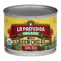La Preferida Organic Green Chiles, Mild-Diced, 4 oz (Pack - 12)