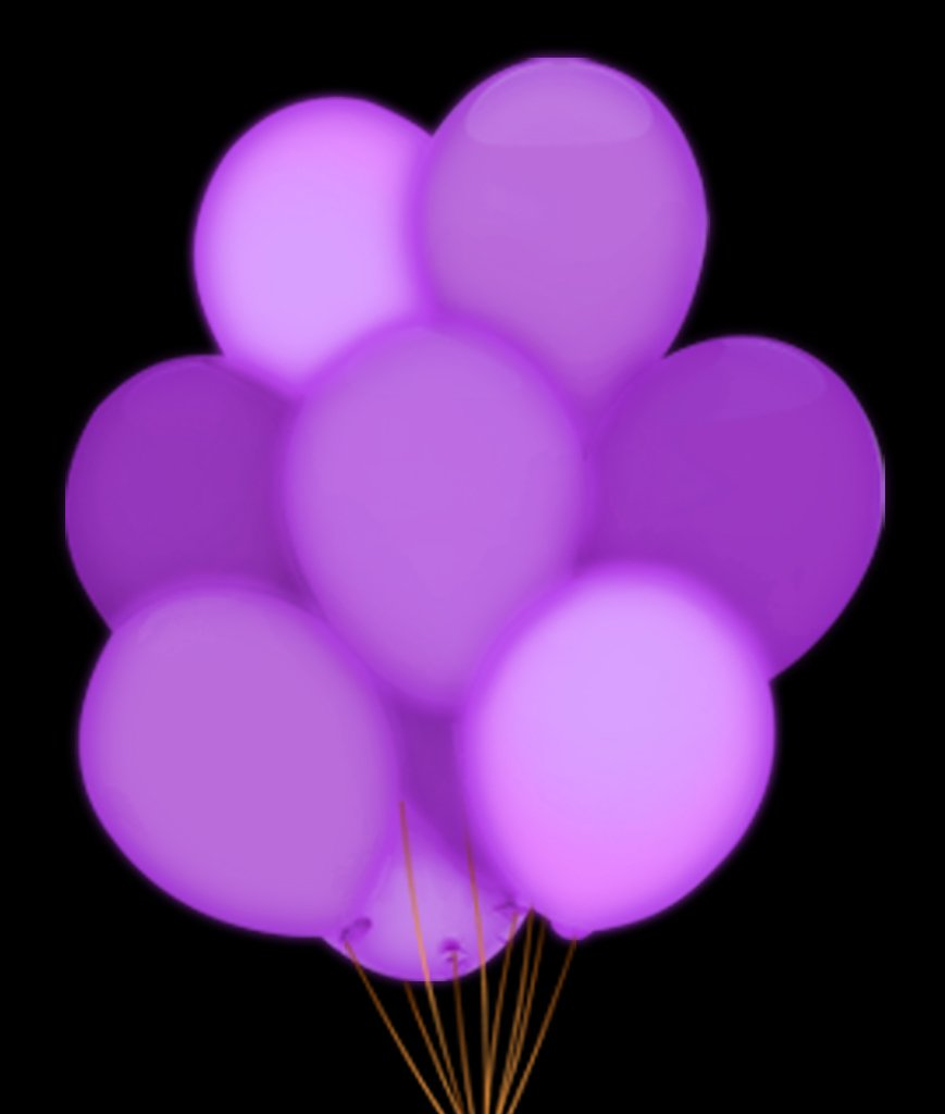 Fun Central 5 Pieces - 14 Inch LED Light Up Blinky Balloons - Decorations for Weddings, Parties & Events - Purple