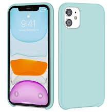 iMangoo iPhone 11 Case, Liquid Silicone Case for iPhone 11 6.1 inch Soft Microfiber Lining Cover Anti-Slip Gel Rubber Coating Protective Phone Case Shockproof Armor Protection Slim Shell Light Mint