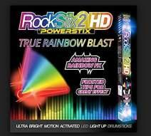ROCKSTIX LIGHT UP DRUMSTICKS : RAINBOW BLAST! Amazing True Rainbow Effect, Set your Gig on Fire
