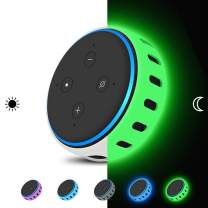 Case Cover Skin for Amazon Echo Dot 3rd Generation Smart Speaker,Silicone Protective case[Shockproof] Personalized Protector Home Table Holder Stand Accessories for 3rd Gen Alexa Echo Dot-glowgreen