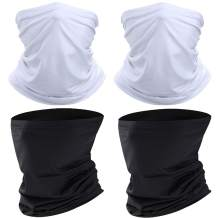 Neck Gaiter Face Bandanas Mask for Women Balaclava for Men Face Scarf Cover for Dust, Sports, Outdoor 4pcs