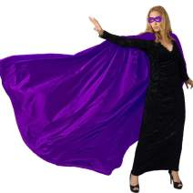 iROLEWIN Superhero Cape for Adults and Mask Men & Women's Party Dress up Costumes