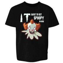 Pop Threads You'll Float Too Loser Lover Horror Scary Clown Youth Kids Girl Boy T-Shirt