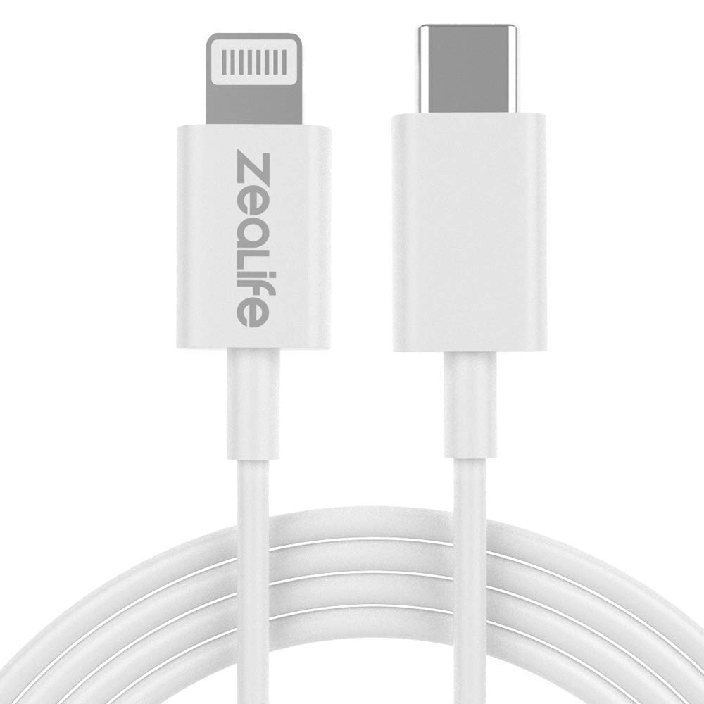"""ZeaLife USB C to Lightning Cable [3.9 ft/1.2 m MFi Certified] Power Delivery Fast Charging Type C Cable for iPhone 11/Pro/Pro Max/X/XS/XR, iPad Air 3 10.5"""" iPad Mini 5 and More"""