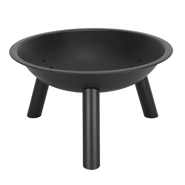 "OTU 22"" Iron Fire Pit Bowl Black"