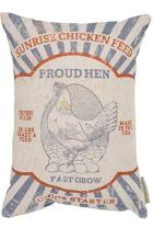 Primitives by Kathy Vintage Feed Sack Style, Throw Pillow, Proud Hen