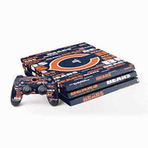 Skinit Decal Gaming Skin for PS4 Pro Console and Controller Bundle - Officially Licensed NFL Chicago Bears Blast Design