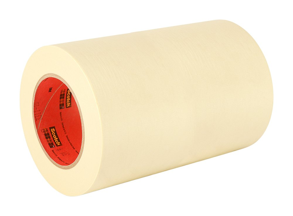 3M General Use 201+ Masking Tape - 2 in. (W) x 180 ft. (L) Crepe Masking Tape Roll with Solvent Free Rubber Adhesive