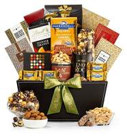 GiftTree Metropolitan Get Well Gift Basket | Assorted Candy, Pistachios, Dried Pineapple, Cookie Brittle, Toffee Popcorn | Send Healing Thoughts