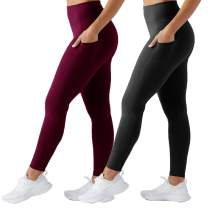 TNNZEET High Waist Yoga Pants for Women - Non See Through Workout Athletic Yoga Legging with Pockets for Running