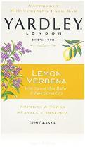 Yardley London Lemon Verbena with Shea Butter & Pure Citrus Oil Moisturizing Bar 4.25 ozr (Pack of 3)
