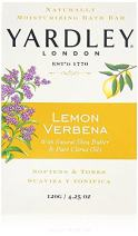 Yardley London Lemon Verbena with Shea Butter & Pure Citrus Oil Moisturizing Bar 4.25 ozr (Pack of 10)