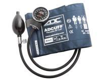ADC Diagnostix 720 Pocket Aneroid Sphygmomanometer with Adcuff Nylon Blood Pressure Cuff, Adult, Navy