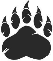 hBARSCI Bear Paw Vinyl Decal - 5 Inches - for Cars, Trucks, Windows, Laptops, Tablets, Outdoor-Grade 2.5mil Thick Vinyl - Matte Black