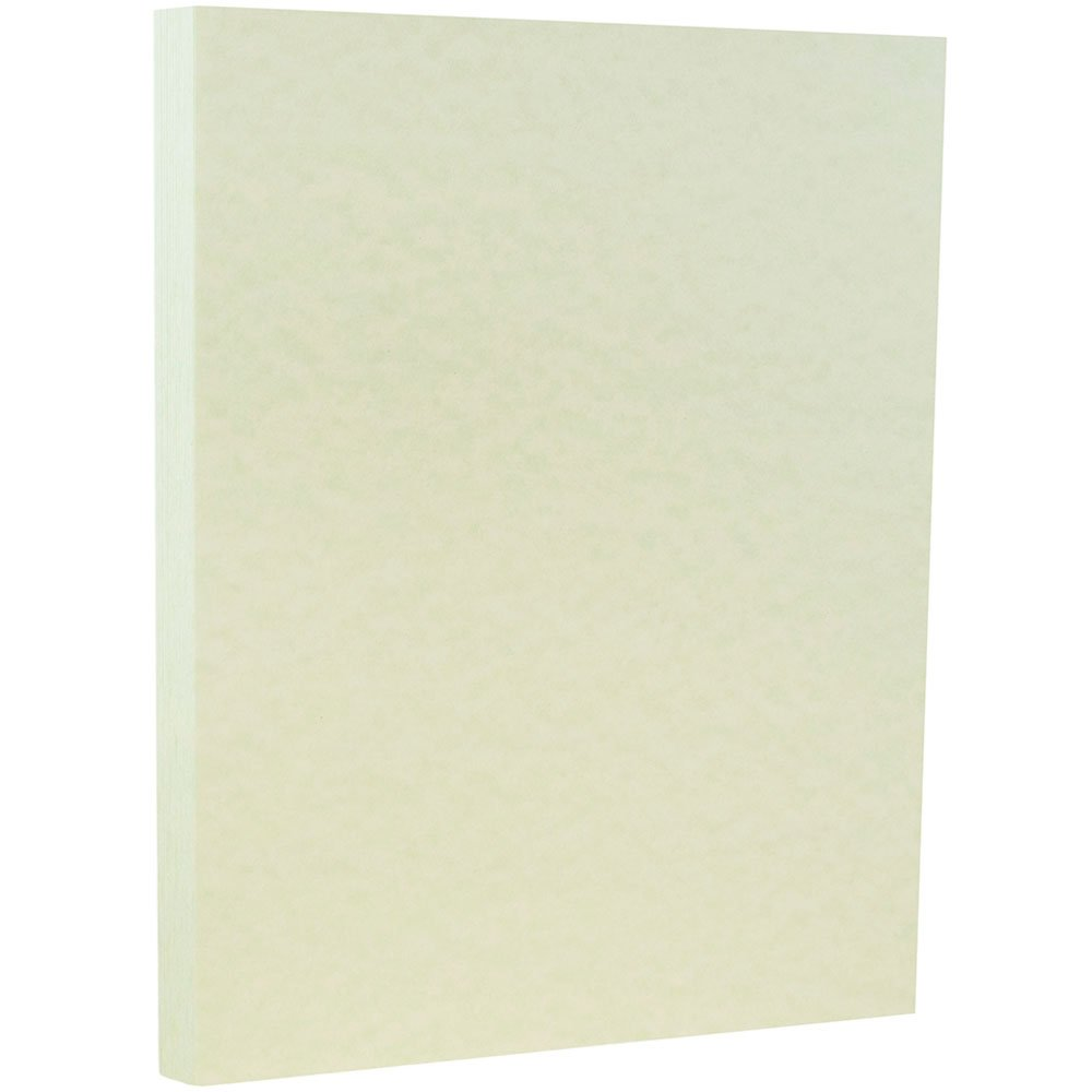 JAM PAPER Parchment 65lb Cardstock - 8.5 x 11 Coverstock - Green Recycled - 50 Sheets/Pack
